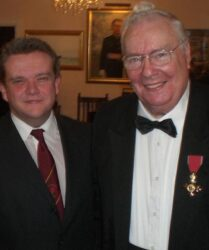 Attending the OBE ceremony of Welsh operatic tenor Stuart Burrows