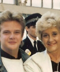 British actress Liz Fraser at a Dreamflight to Disneyworld event, Heathrow