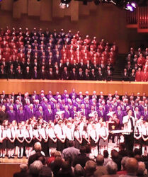 Compere, Anglo Welsh Festival of Choirs at St David's Hall, Cardiff