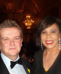 Compere duties at the Monaco St David's Day Dinner in the Hotel de Paris, Monte Carlo before Dame Shirley Bassey