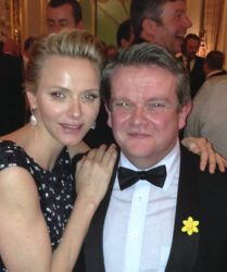 Compere duties at the Monaco St David's Day Dinner in the Hotel de Paris, Monte Carlo before Her Serene Highness Princess Charlene