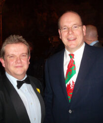 Compere duties at the Monaco St David's Day Dinner in the Hotel de Paris, Monte Carlo before His Serene Highness Prince Albert II