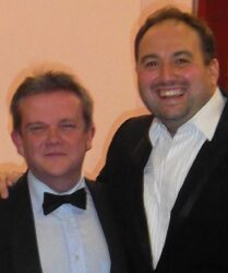 "Compere duties for ""Go Compare!"" tenor Wynne Evans"