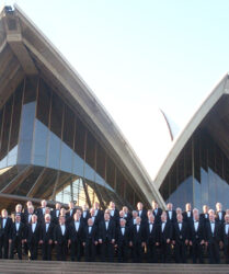Compere duties for Treorchy Male Choir Tour of Australia 2009