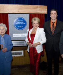 Compere duties for the unveiling of a Blue Plaque to Sir Geraint Evans with Beverly Humphreys, Lady Brenda Evans, Jason Howard and Mayor Robert Smith