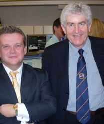 Compere duties with First Minister for Wales Rhodri Morgan, Geneva, Switzerland