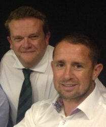 Compere duties with Welsh rugby international Shane Williams at Llantrisant RFC Annual Dinner