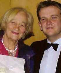 Compere duties with actress Liz Smith at the Queen Elizabeth Hall, London