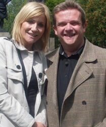 "Filming with Michelle Collins on the BBC programme ""Coming Home"""