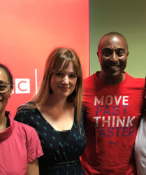 Guest on BBC Radio Wales with Colin Jackson and Ruth Packer