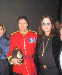 Ozzy and Sharon Osbourne at the Royal Variety Show