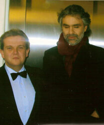 Tenor Andrea Bocelli at the Royal Variety Show