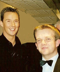 Tenor Russell Watson backstage at the LWT Studios where we both appeared on Cilla Black's Surprise Surprise Christmas Special