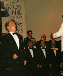 Tenor soloist on the Treorchy Male Choir Tour of USA and Canada,