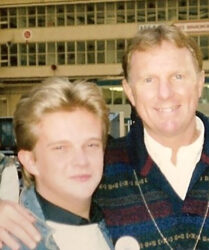 World Cup Winning Football Captain Bobby Moore at a Dreamflight to Disneyworld event, Heathrow